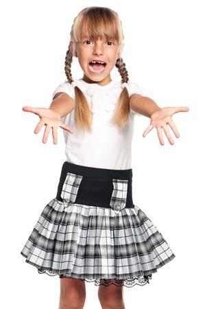 Little girl in school uniform Stock Photo - 17600381