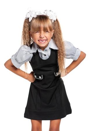 Little girl in school uniform Stock Photo - 17600384