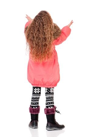 ropa de invierno: Ni?a en ropa de invierno