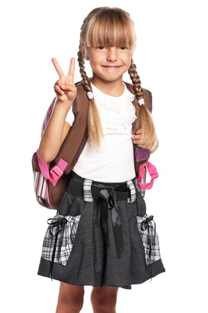 Little girl with backpack Stock Photo - 17600315
