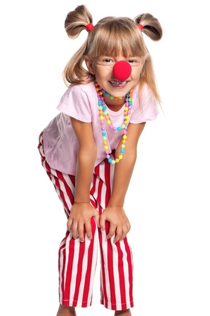 Little girl with clown nose Stock Photo - 17600354