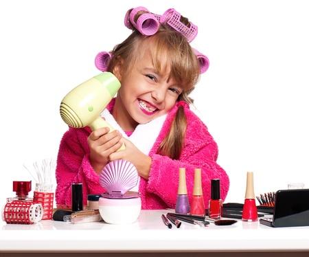 little table: Makeup little girl