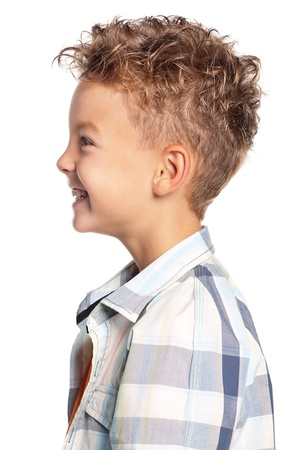 profile face: Portrait of boy Stock Photo