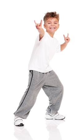 Boy dancing photo