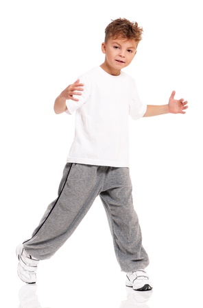 Boy dancing Stock Photo - 17927204