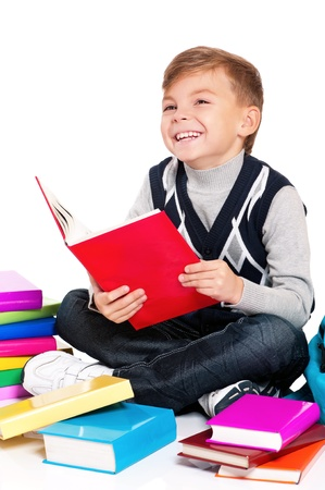 Boy with books Stock Photo - 18058093