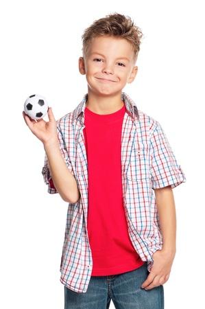 boy ball: Boy with soccer ball