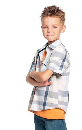 struggling: Portrait of boy Stock Photo