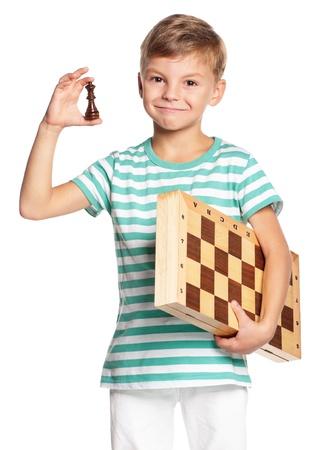 chessboard: Boy with chessboard