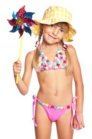 petite fille maillot de bain: Petite fille en maillot de bain