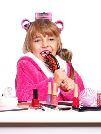 Makeup little girl photo