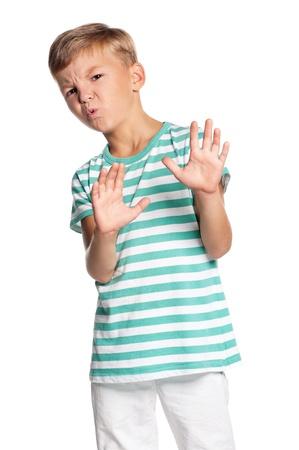 yuck: Teen boy Stock Photo