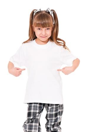 T-shirt on girl photo