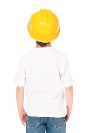 Boy in hard hat photo