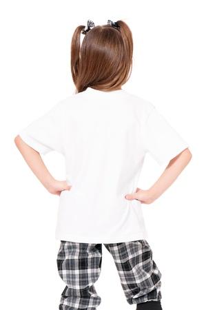 personnes de dos: T-shirt de fille Banque d'images