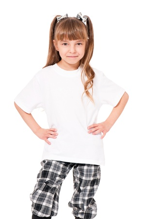 T-shirt on girl photo