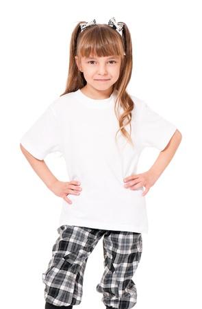 t shirt white: T-shirt on girl