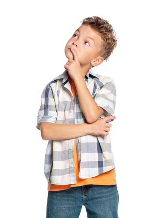 bambini pensierosi: Ritratto di ragazzo