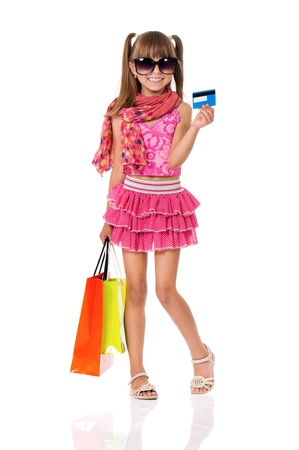 Girl shopping photo