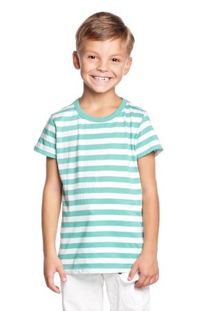 Portrait of little boy isolated on white background Stock Photo - 27258759
