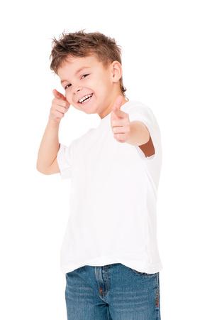 T-shirt on boy Stock Photo