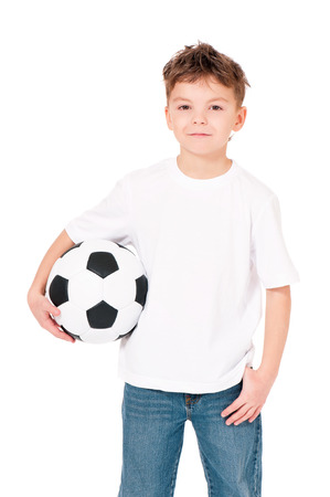 Boy with soccer ball photo