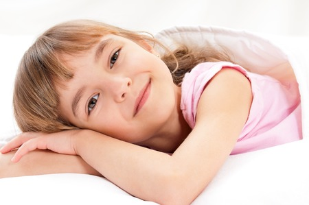day bed: Girl on bed