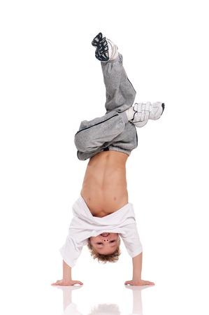 Boy gymnastic Stock Photo