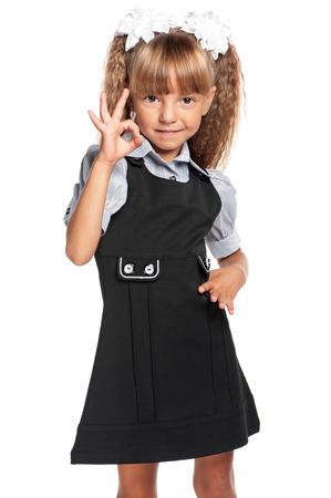 schoolgirl uniform: Little girl in school uniform
