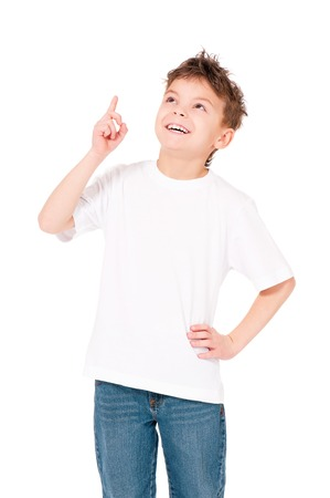 T-shirt on boy 版權商用圖片