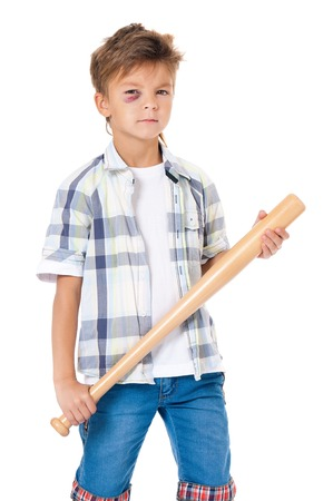 Boy with bruise photo