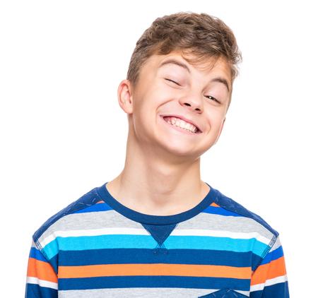 Emotional portrait of teen boy Stock Photo