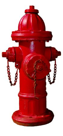 fire hydrant: Stock red fire hydrant on white Stock Photo