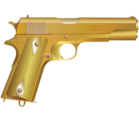 Gold weapon isolated on white Stock Vector - 4654162