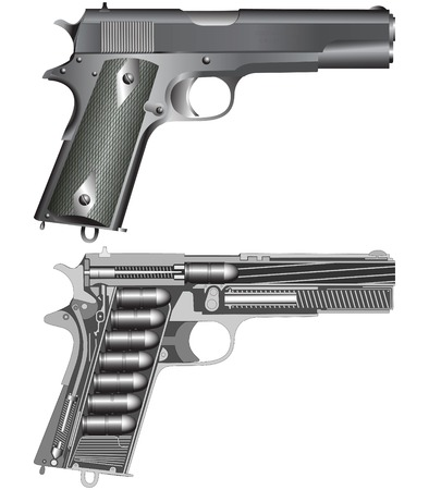 Pistol scheme Illustration