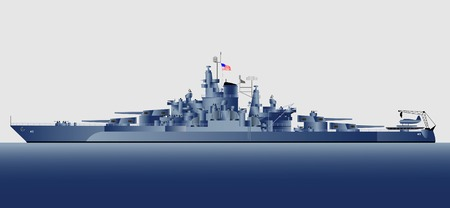 warship: Military navy ships Tennessee Illustration