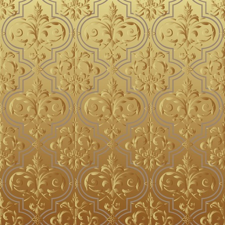 Seamless wallpaper gold Vector