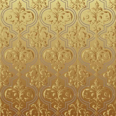 venetian victorian: Seamless wallpaper gold