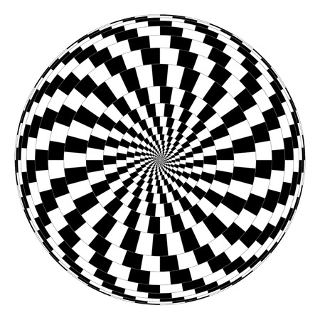 illusions: Vector spiral optical illusion