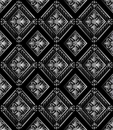 Seamless pattern on black background. vector illustration. Stock Vector - 5431043