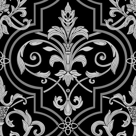 barocco: damascate sfondo trasparente Vettoriali