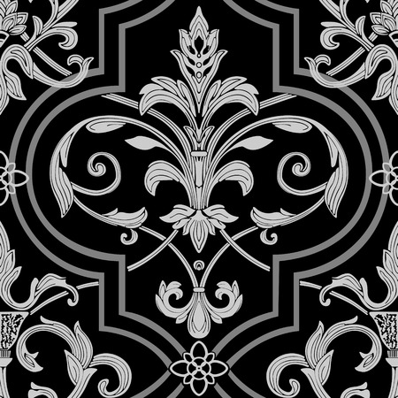 baroque pattern: damask seamless wallpaper