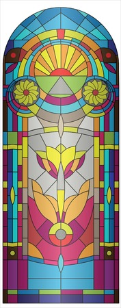 vitrage:  stained-glass
