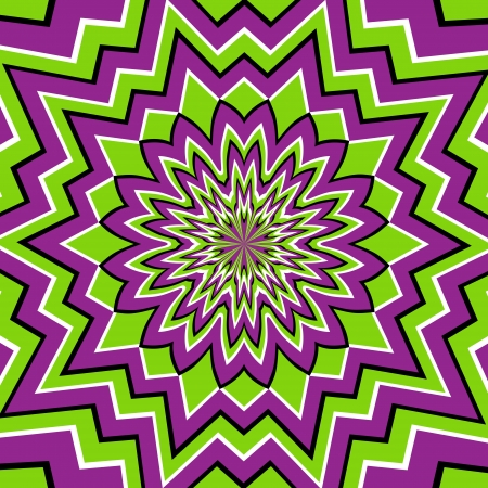 strange: optical illusion Illustration