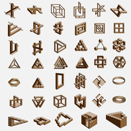 41 impossible objects Vector