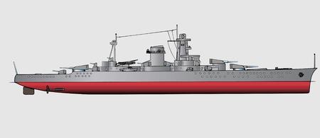 a battleship: Military navy ships .Vector art illustration of battleship