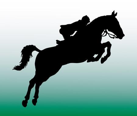 horseman: illustrationn de vector de personas sobre un caballo