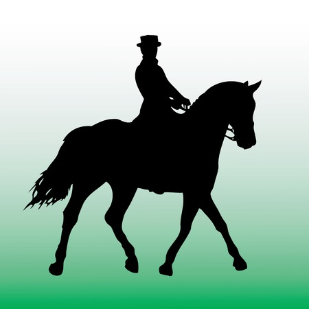 vector illustration of people on a horse Vector