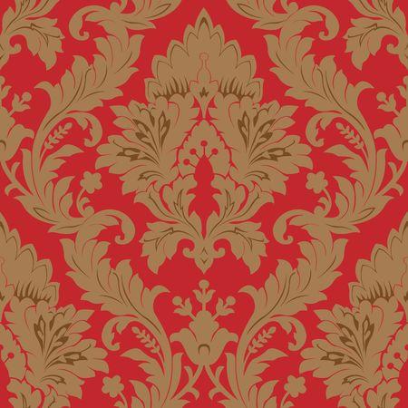 Seamless damask pattern photo