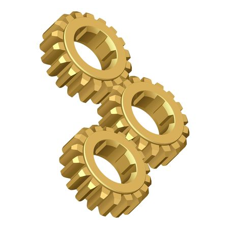 meshed: Gear.illustration Stock Photo